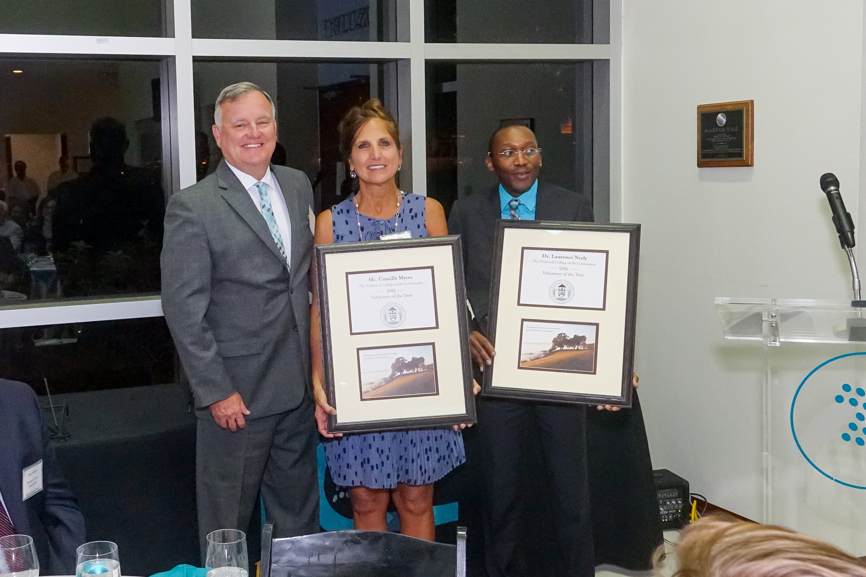 Photo-Camille Myers, Dr. Laurence Neely-TCL Volunteers of the Year