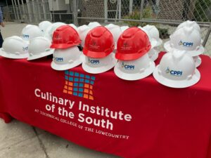 Community gets first look inside Culinary Institute on hard hat tour